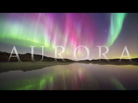 AURORA -  northern lights 4K timelapse compilation & relaxation