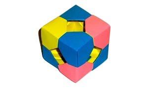 Куб из бумаги  Модульное оригами