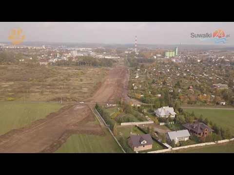 Trasa Wschodnia w Suwałkach z lotu ptaka. Widać już zarysy