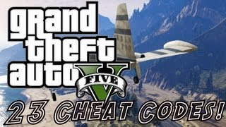 GTA 5 Cheats - 23 Cheat Codes! Cars, Explosive Ammo, Super Punch&MORE! (Grand Theft Auto V Cheats)