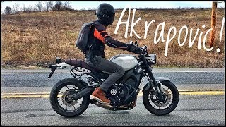 7. Yamaha XSR900 Akrapovic Titanium Exhaust vs. Stock