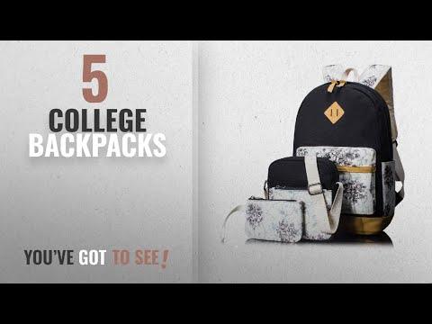 Top 10 College Backpacks [2018 Best Sellers]: Backpack for Girls, Floral College Bookbags Laptop