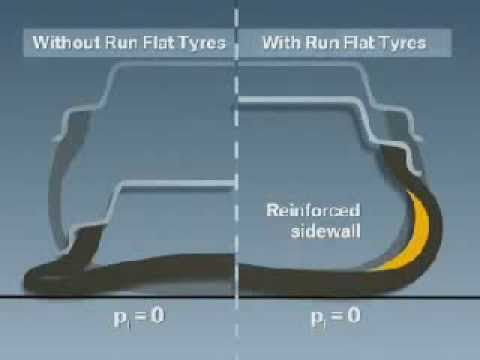 Видео №9 - Прокол шины с Run Flat и без (сравнение)