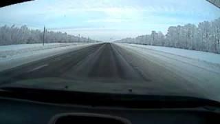 Зимняя дорога скорость192 км/ч