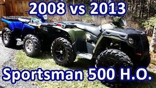4. 2013 Polaris Sportsman 500 HO & 2008 Sportsman 500 EFI