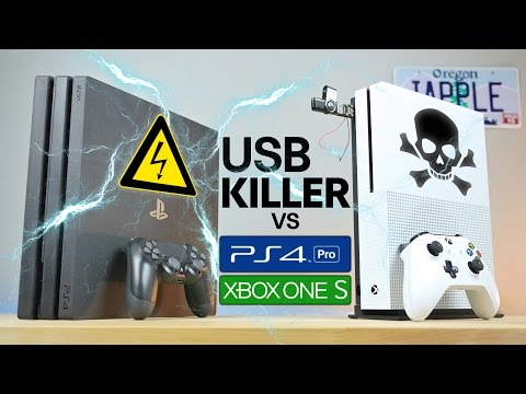 USB Killer vs PS4 Pro & Xbox One S - Instant Death?