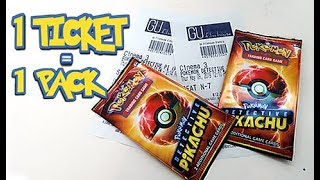 Opening *MOVIE TICKET* Detective Pikachu Booster Packs by Unlisted Leaf