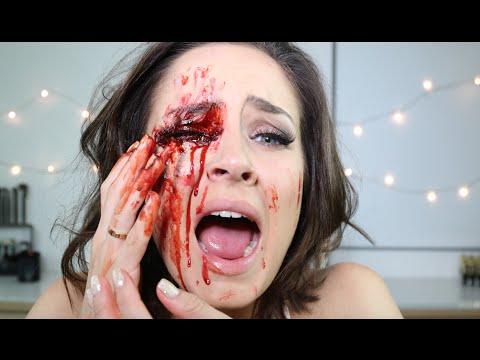 Bleeding Eye Socket/Eye Injury Special FX Halloween Makeup