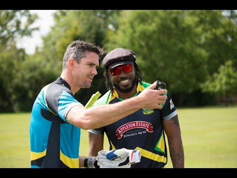 Helicopter mission by Kevin Pietersen and Chris Gayle