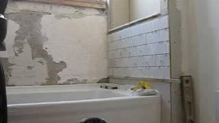tiling the bathroom