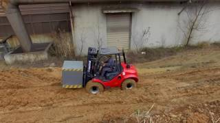 Maximal Compact 4WD Rough Terrain Forklift