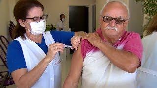 Vacinação da gripe em Marília