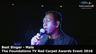Nirmal Ramu wins The Foundations TV Best Singer Male Award