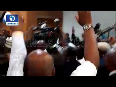 Defection: Jubilating Lawmakers Chant Dogara's Name As He Arrives