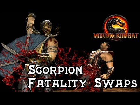 Mortal Kombat 9 'Scorpion Fatality Swaps (1/2)' [1080p] PC Mods TRUE-HD QUALITY (видео)