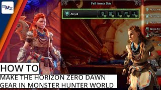 How to find Horizon Zero Dawn Aloy Gear in Monster Hunter: World