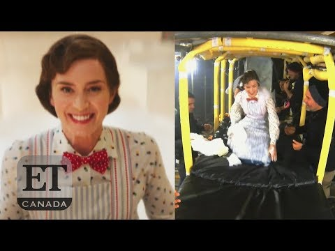 Emily Blunt Explains 'Mary Poppins' Bathtub Slide