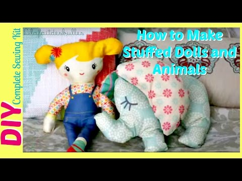 How To Make Stuffed Animals Dolls Toys DIY Sewing KIT À COUDRE | best friends