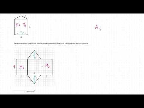 Oberfläche bestimmen mit Hilfe des Netzes: Dreiecksprisma (Video ...