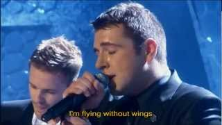Westlife - Fying Without Wings with Lyrics, The Westife Show No.1 !!