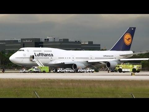 Lufthansa Medical Emergency at Miami Intl Airport 08/26/2013