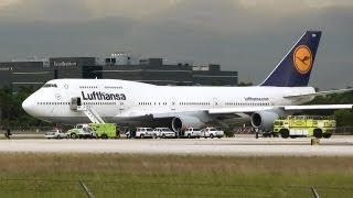 Lufthansa Medical Emergency at Miami Intl Airport 08/26/2013
