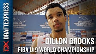 Dillon Brooks 2015 FIBA U19 World Championship Interview