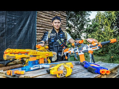 LTT Nerf War : TWO SEAL X Warriors Nerf Guns Fight Dr.Lee Crazy Destroys Trade Of Two Boss