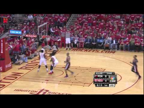 Terrence Jones block & Pat Beverley fast break dunk vs Blazers