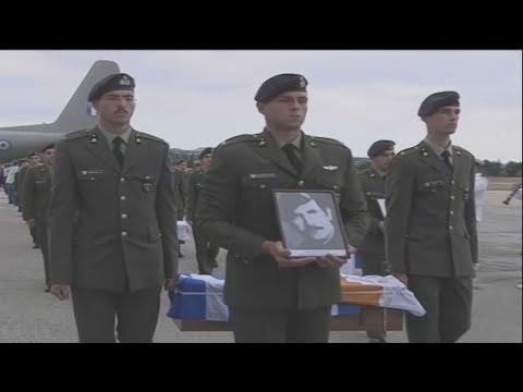 Ο ΥΕΘΑ Π. Καμμένος στη νεκρώσιμο ακολουθία του ήρωα της ΕΛΔΥΚ Κ.  Μπροδήμα