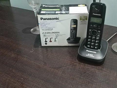 Hindi -- Panasonic kx tg3411sx- cordless phone | Best phone? Panasonic kx tg3411sx vs kx tg3611sx
