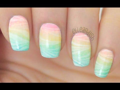 magico effetto arcobaleno watermarble nail art!
