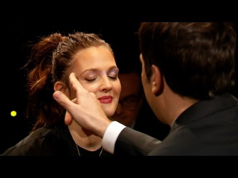 Drew Barrmore - Jimmy and Drew Barrymore compete in a Russian roulette style game, where losers are decorated by Drew's makeup line, Flower. Subscribe NOW to The Tonight Sho...
