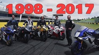 7. Yamaha YZF R1 History (1998 - 2017) | Story Behind The New R1