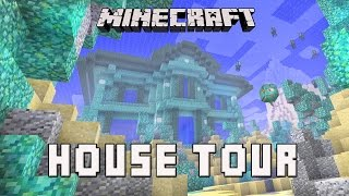 Minecraft: Awesome Underwater House Tour   (Coral House Part 16)