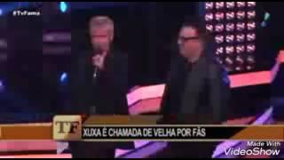 """Xuxa desabafa nesmo na coletiva de imprensa do """"Dancing Brasil""""no Tv fama da Rede Tv."""