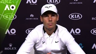 Press conference with Rafael Nadal following his Australian Open 2017 men's final loss to Roger Federer.