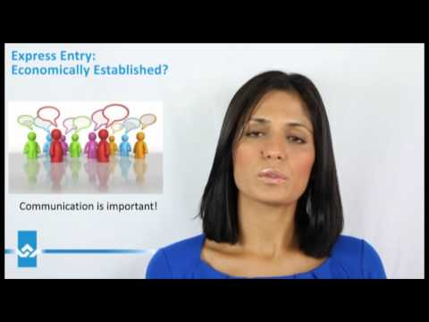 Express Entry Are You Economically Established Video