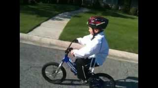 Josiah karate bike ride