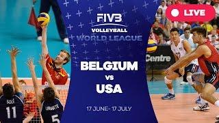 Belgium United States  city photos : Belgium v United States - Group 1: 2016 FIVB Volleyball World League