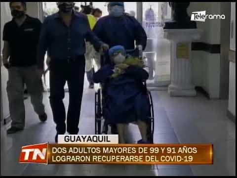 Dos adultos mayores de 99 y 91 años lograron recuperarse del covid-19
