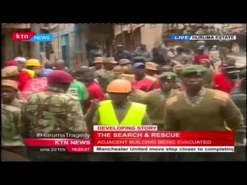 KTN's Mitchelle Ngele with live update from Huruma where a building has collapsed