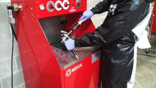 S700M Solvent Spray Gun Cleaner Workstation – Operation
