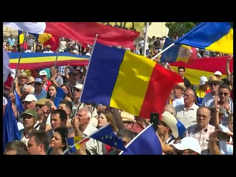 Moldawien: Demonstration für Wiedervereinigung mit Rumänien
