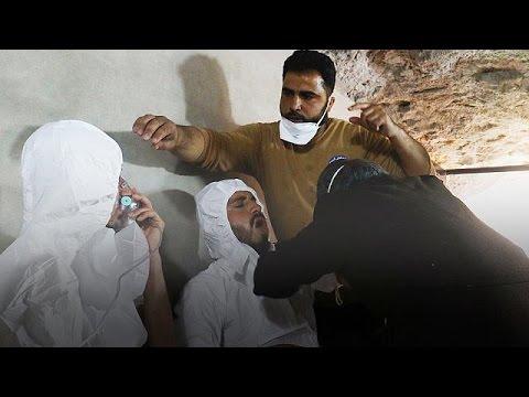 Καταγγελίες για δεκάδες νεκρούς από αέριο σαρίν στη ΒΔ Συρία (Προσοχή: σκληρές εικόνες)