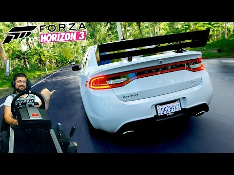 Крайне странный карпак Mountain Dew - Forza Horizon 3 на руле Fanatec CSL Elite
