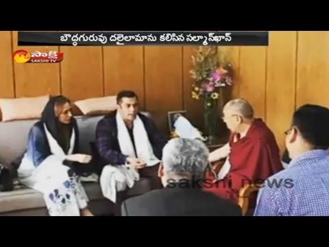 Salman Khan and Iulia Vantur visit Dalai Lama