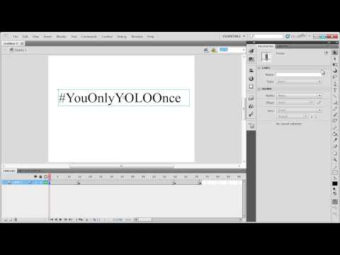 FLASH TUTORIAL - Basic Keyframing (Text Fade in / Fade out)