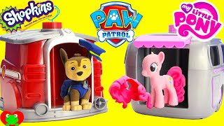 Paw Patrol Skye and Marshall Magical Pup House with Shopkins a...