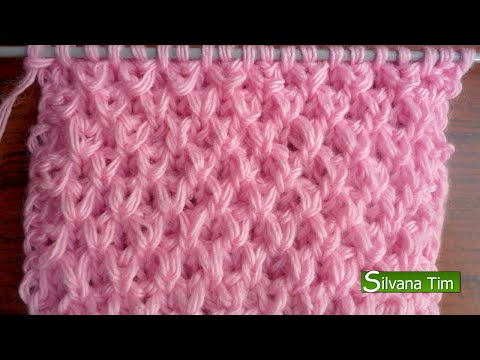 lavorazione a maglia - il punto riso in 3d
